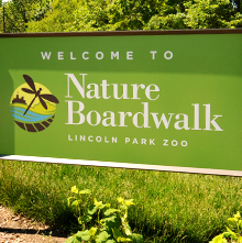 Signage at the Nature Boardwalk at Lincoln Park Zoo, where environmental education is a priority