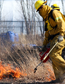 A prescribed burn at the Chicago Center for Green Technology by WRD's Zach Taylor